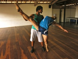 Leo and Daniel Rehearsing at Escola de Dança