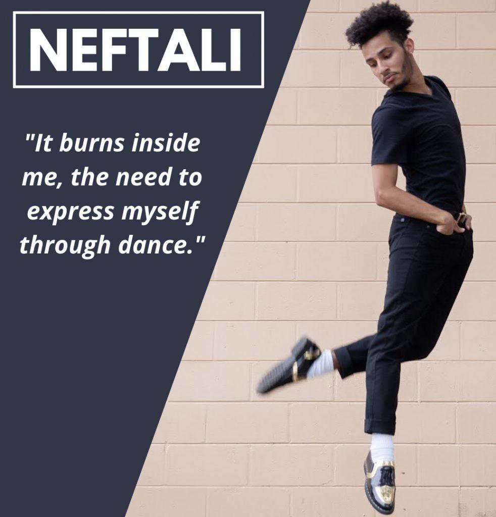 Photograph of Neftali Benitez dancing